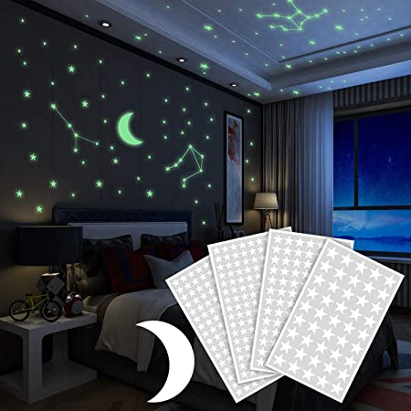 ❤ 425 piezas de estrellas y una luna están incluidas en el paquete; las estrellas son de 3 tamaños d