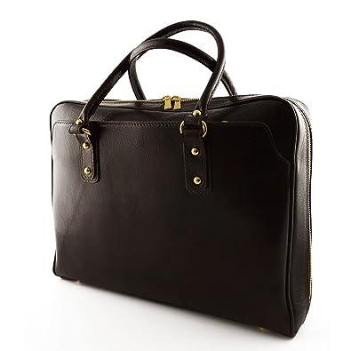 Echtes Leder Umhängetasche 3 Abteile Farbe Schwarz - Italienische Lederwaren - Damentasche Dream Leather Bags Made in Italy DneWJOD
