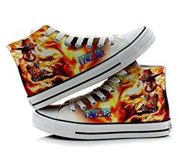 One Piece Luffy Cosplay Shoes Canvas Shoes Sneakers Colourful 3