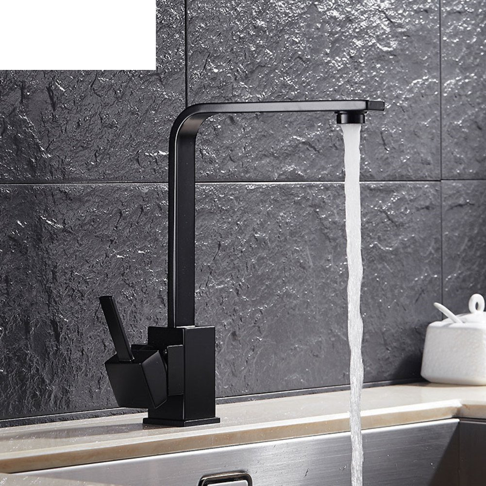 Home Badezimmer Basin Wasserhahn, Schwarzer Platz, Küche-Mixer, Waschen Sie Gerichte Auf Dem Tisch Waschbecken Heiß Und Kalt Mixer Wasserhahn, Drehen Sie Den Wasserhahn
