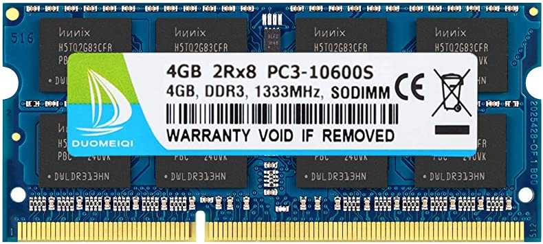 Crucial 8GB 2X 4GB PC3-10600 DDR3 1333Mhz Intel Notebook SODIMM Laptop Memory