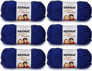 Bernat 161128-28134 Softee Chunky Yarn - Royal Blue
