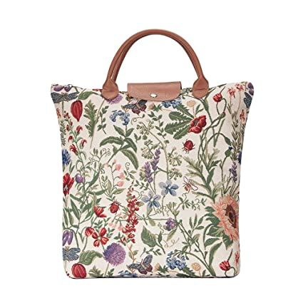 3bb870752c94 Signare Tapestry Women Foldable Reusable Shopping Grocery Bag Garden Flower  with Sunflower Poppy Butterfly Dragonfly (FDAW-MGD)  Amazon.co.uk  Kitchen    ...