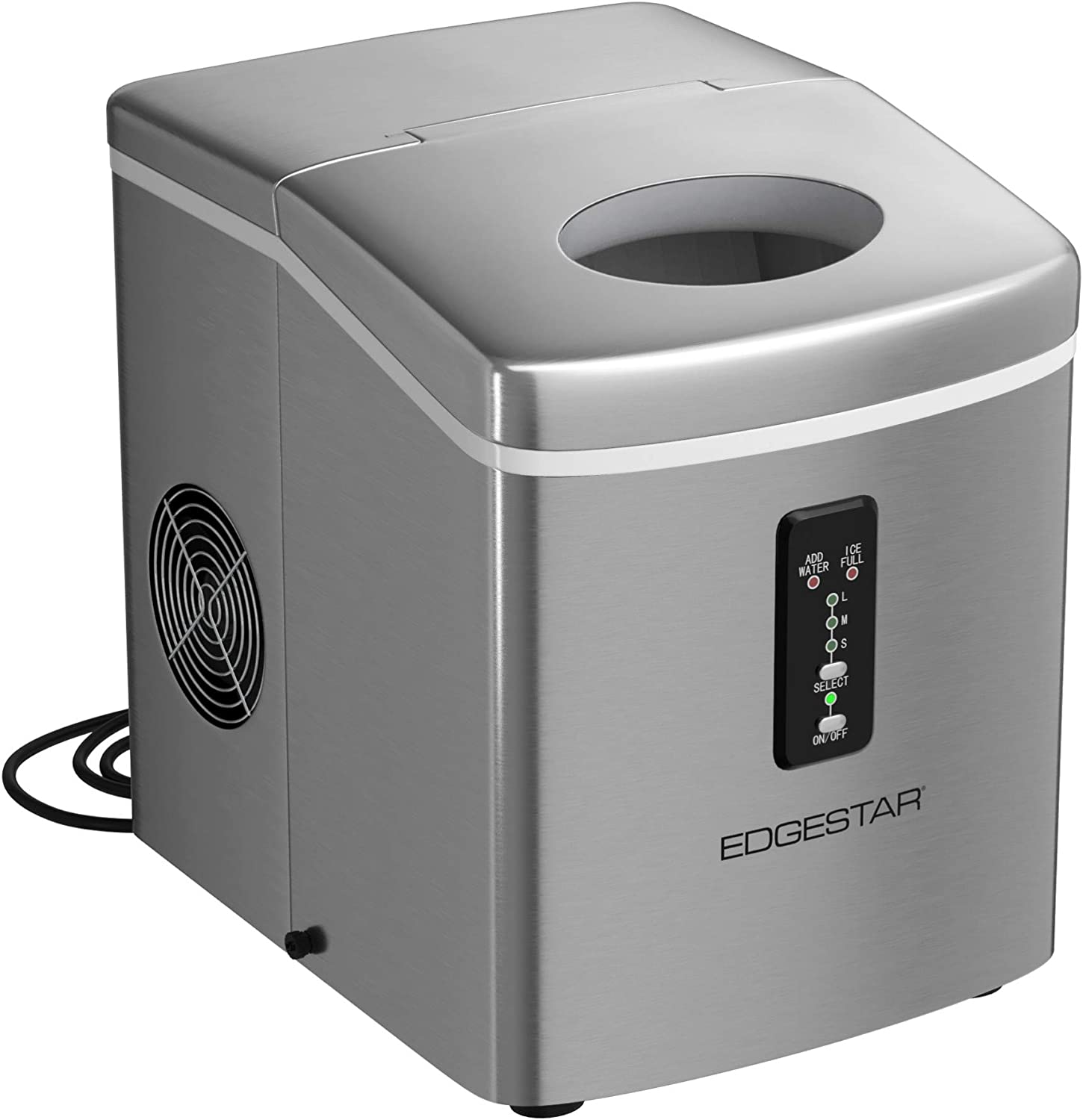 Edgestar Pim100ss 12 Inch Wide 2 2 Lbs Capacity Portable Ice Maker With 26 5 Lbs Daily Ice Production Home Improvement