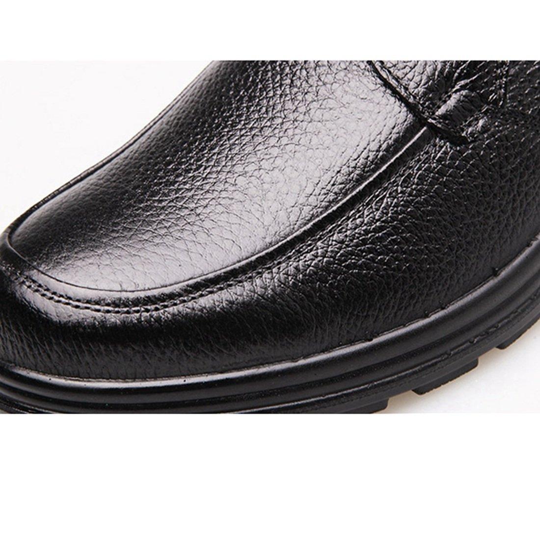 Enerhu Men Slip on Work Shoe Flat Chef Shoes Leather Wear Resistant Oilproof Waterproof Black Asian 44/US 9.5 by Enerhu (Image #5)