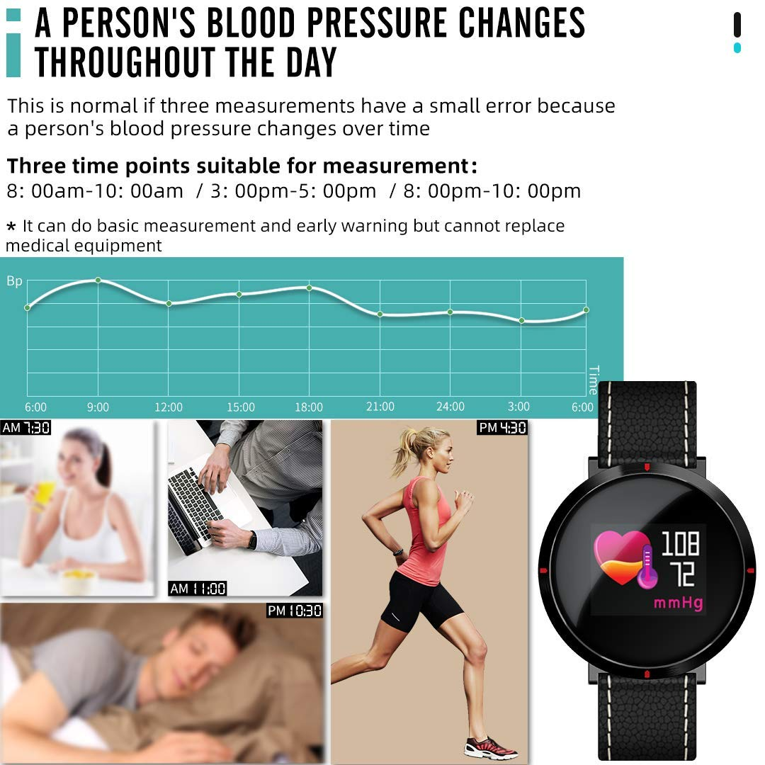 maxtop Smart Watches for Women - Heart Rate Monitor Blood Pressure Sleep Monitor Fitness Tracker Compatible with Android and iOS - Black by maxtop (Image #3)
