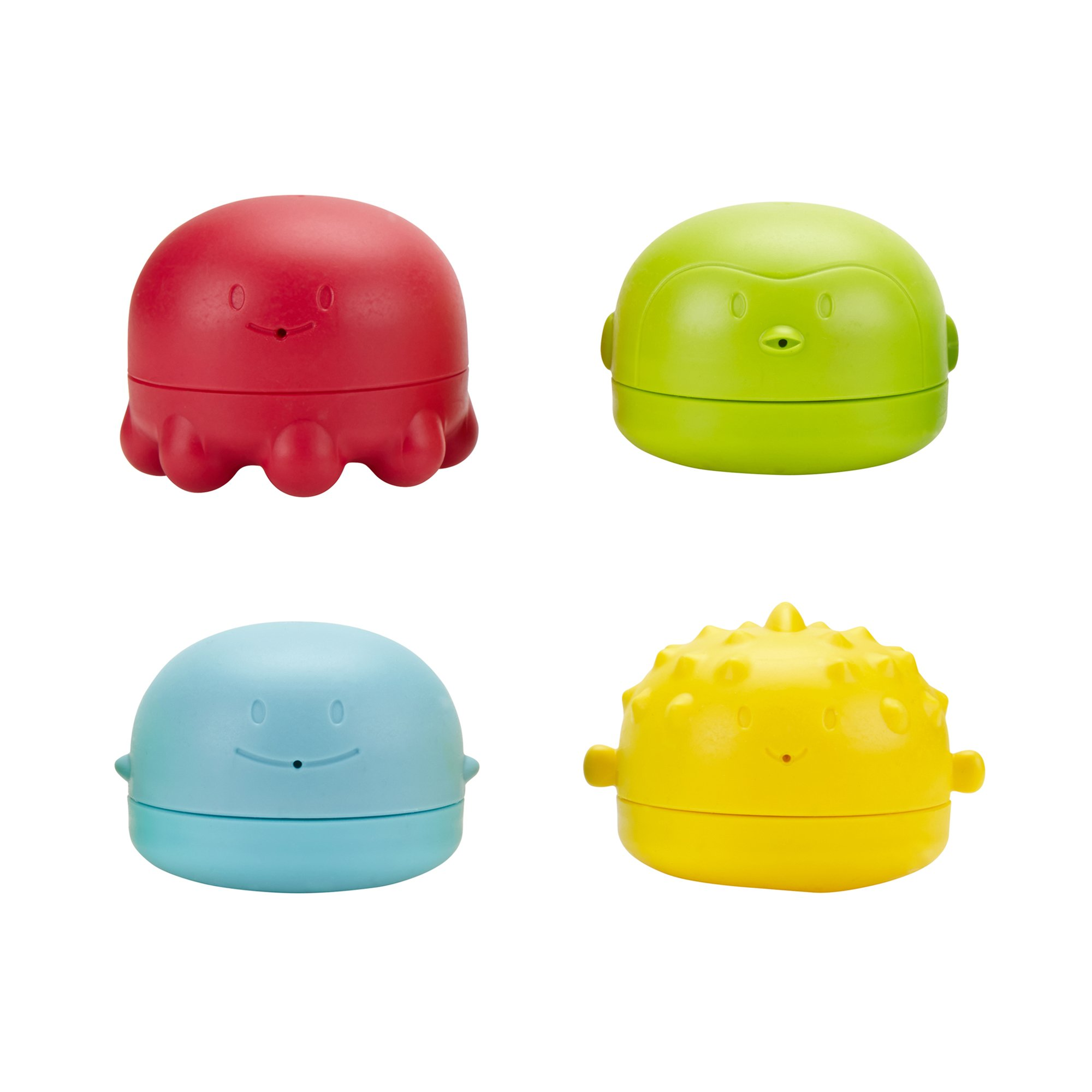 Ubbi Squeeze and Squirt Silicone Mold Free Bath Toys for Toddlers and Baby