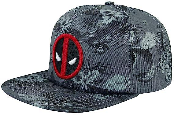 big sale 7ebb2 ac13d Image Unavailable. Image not available for. Color  Bioworld Marvel Comics  Deadpool Mono Floral Slouch Flat Bill Hat