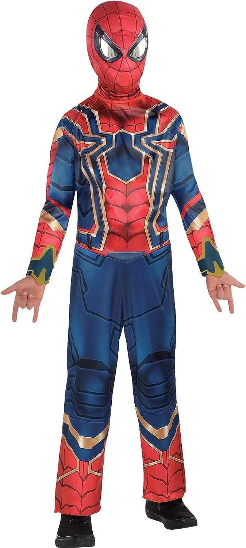 Boys Official Iron Spiderman Avengers Endgame Fancy Dress Superhero Costume