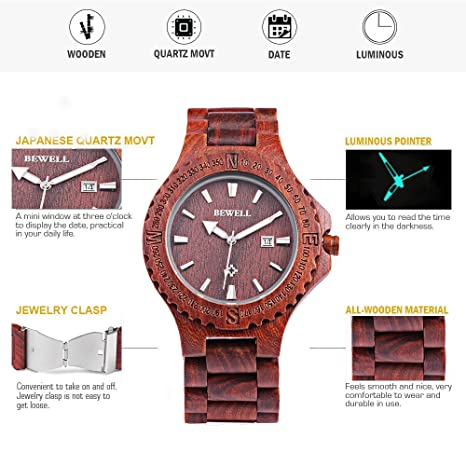 Lover's Watches Lower Price with Hotime Fashion Handmade Men Wooden Luxury Quartz Brand Women Dress Analog Watches With 2 Color Strap With Japan Movement As Gift To Adopt Advanced Technology