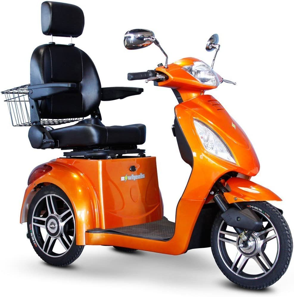 E-Wheels EW-36 3-Wheel Electric Senior Mobility Scooter - Orange