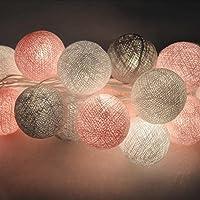 mymotto LED Fée Lumières Boules 3m 22s Coton Balles Batterie/USB / Plug Noël Célébration Jardin Terrasse Chambre Déco…