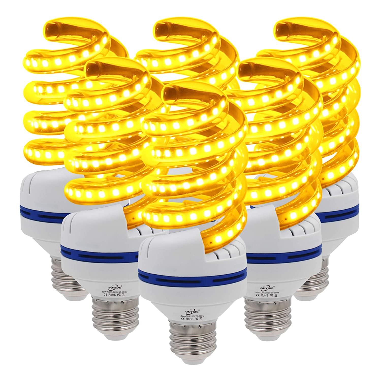 OUYIDE Yellow LED Bulbs, Amber Bedroom Night Light Bulb A21 Bulbs