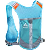 TRIWONDER Chaleco Reflectante para Correr Chaleco hidratante Paquete de Hidratación Mochila para Correr Carrera de Maratón Ciclismo