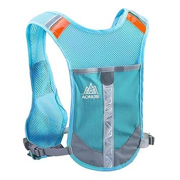 TRIWONDER Chaleco Reflectante Ligero Mochila de Hidratación para Trail Running Ciclismo Marathoner Profesional Hombre Mujer (Azul - Solo Chaleco): ...