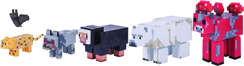 "Minecraft 3/"" Action Figure Wild Animal 6-Pack"