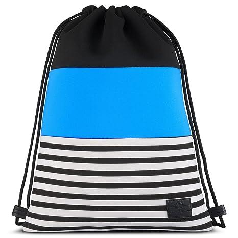 7dc6ea0b5 Mochila Cordónes de Neopreno Azul - Johnny Urban Bolsa de Lona con Bolsillo  para Hombre,
