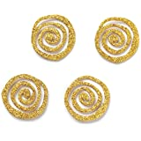 Embellish Your Story Gold Glittered Swirl Magnets - Set of 4 - Embellish Your Story Roeda 101659-EMB
