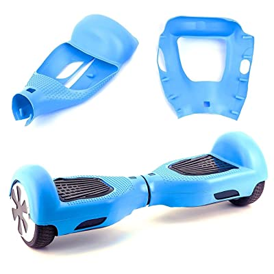 "Kglobal Silicone Cove for 6.5"" 2 Wheels Balance Scooter - Balance Hover Board Protector Case Cover(Lightblue) : Sports & Outdoors"