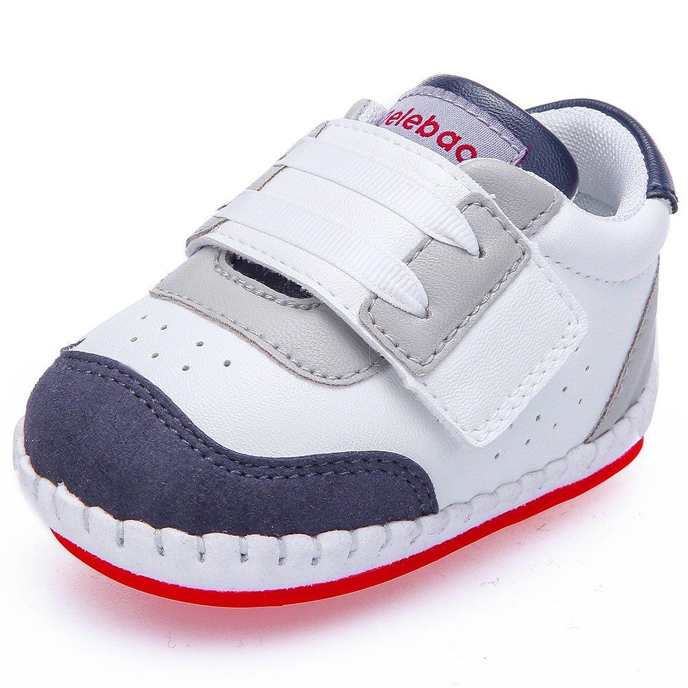 DELEBAO Zapatos Bebe Niñ a Zapatillas de Deporte Bebe Primeros Pasos Calzado para Bebes con Suela Antideslizante