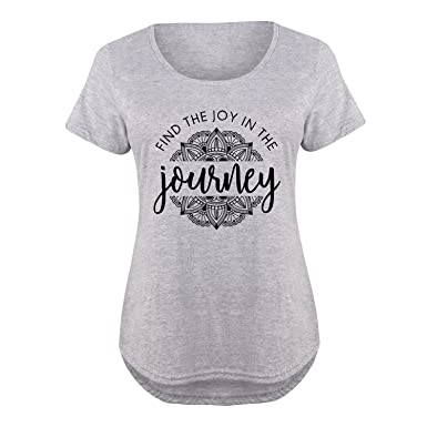 33c70ad9a7e Find The Joy in The Journey - Ladies Plus Size Scoop Neck Tee Athletic  Heather