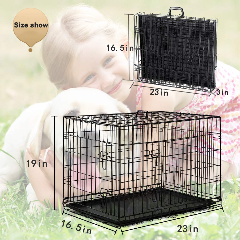 BestPet 42'' Pet Folding Dog Cat Crate Cage Kennel w/ABS Tray LC by BestPet (Image #7)