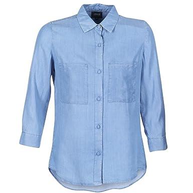 3y5c04 In Cupro Jeans Armani Donna Tinta Unita Camicia 5d1zz 1500 U0PZw
