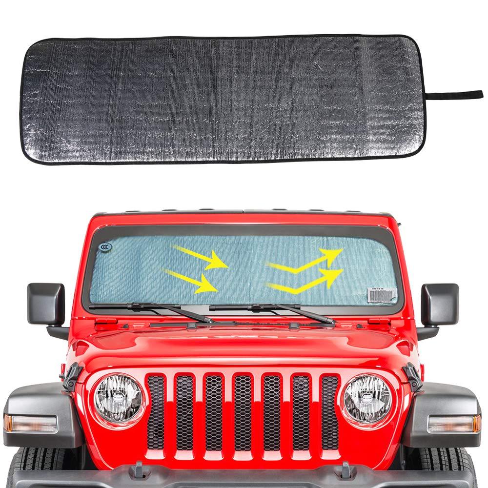 Sunshade Top Cover Provides UV Sun Protection for Jeep Wrangler JK JKU 2007-2018 Red 2/&4 Doors