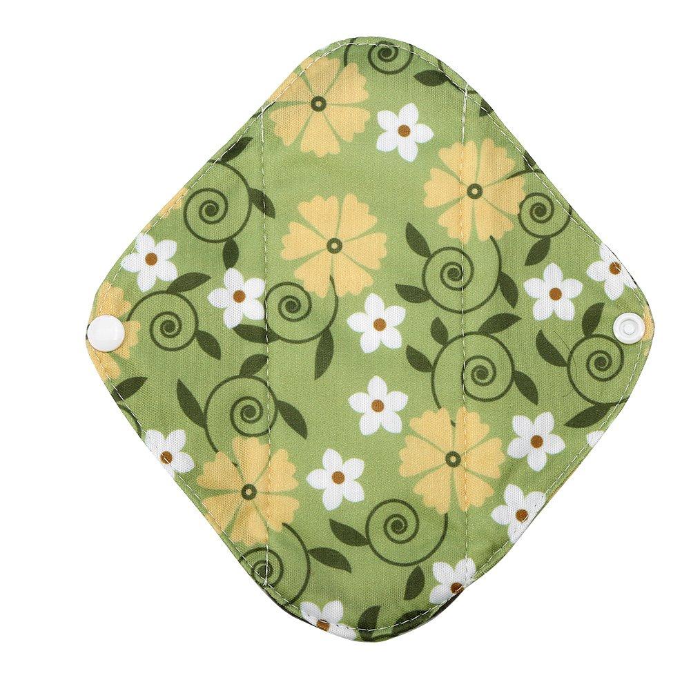 Cojín menstrual lavable, reutilizable Panty Liners de mujeres de tela de bambú toallas sanitarias Carbón capa externa (s)(WSD14): Amazon.es: Belleza