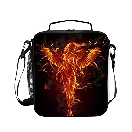 47debf395576 Amazon.com: Levendem Dragons Phoenix Rising from Ashes Lunch Bags ...