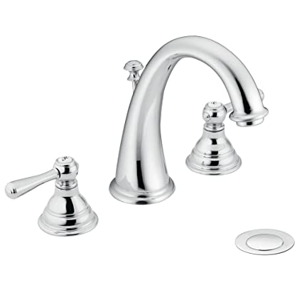 Moen T6125 Kingsley Two Handle High Arc Widespread Bathroom Faucet Without  Valve, Chrome