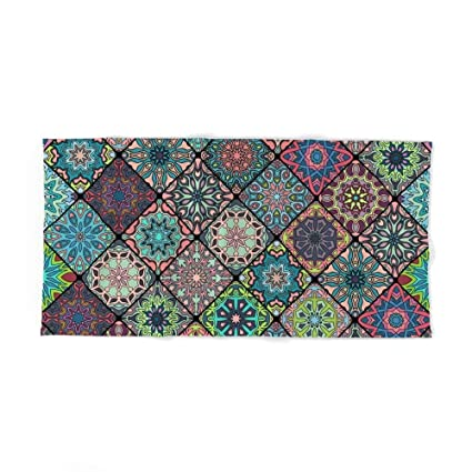 "Donola Vintage Patchwork con Flores Mandala Elementos Toalla de baño 31,5"" ..."