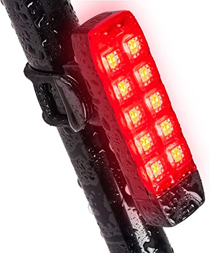 Red LED Bike Tail Light Battery Safety Flashing Waterproof Rear Lamp