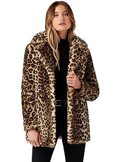 8616348b3de0 Amazon.com: Velvet Women's Juliana Faux Fur Leopard Coat: Clothing