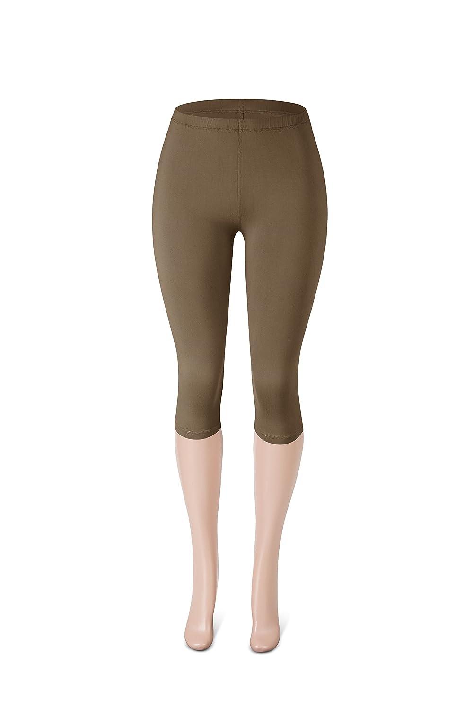 a1dc5959d56 Sejora SATINA High Waisted Ultra Soft Capris Leggings - 20 Colors - Reg   Plus  Size