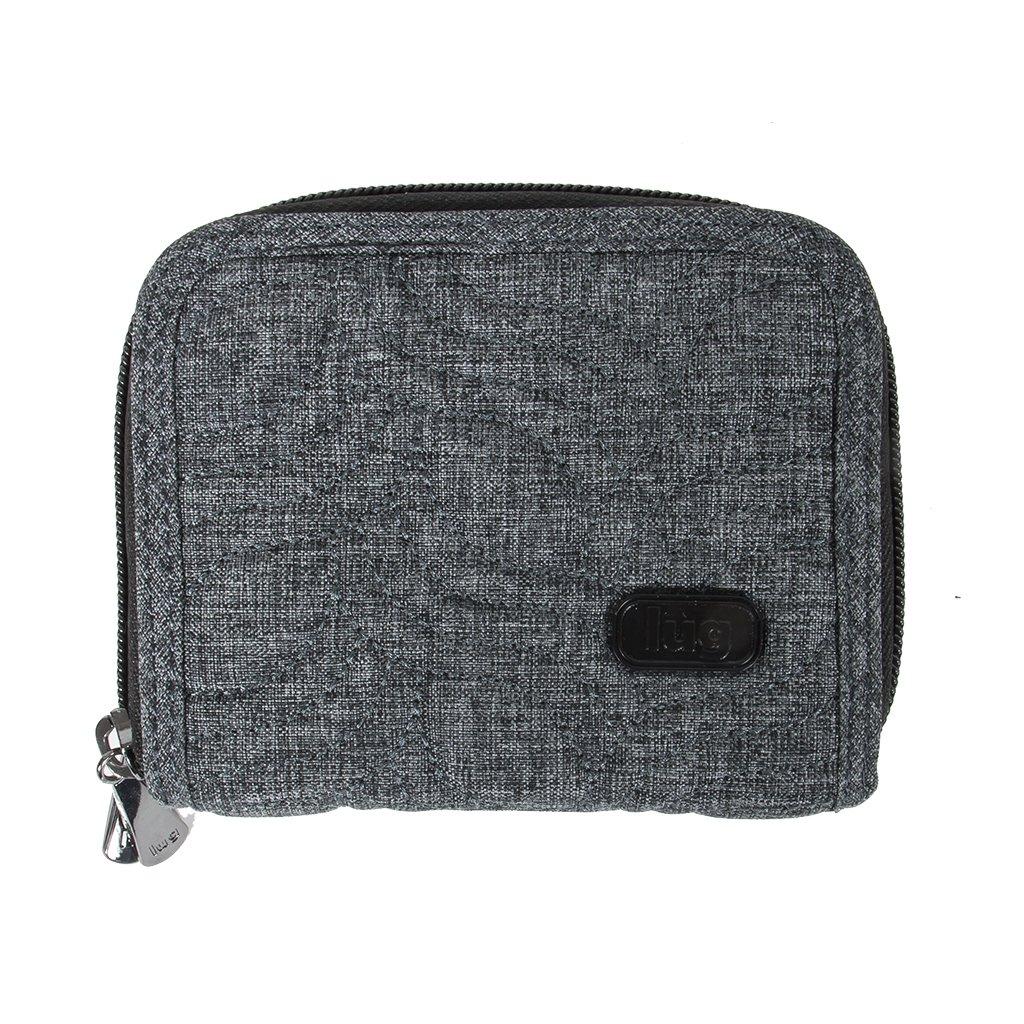 Lug Splits Compact Wallet, Heather Grey, One Size (Model: Splits 2-HR Grey) LUGCA SPLITS V2-HR GREY