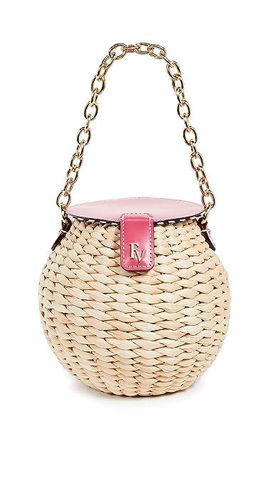 a1dd5301f Frances Valentine Women's Honeypot Crossbody Bag, Natural/Bright Pink, One  Size