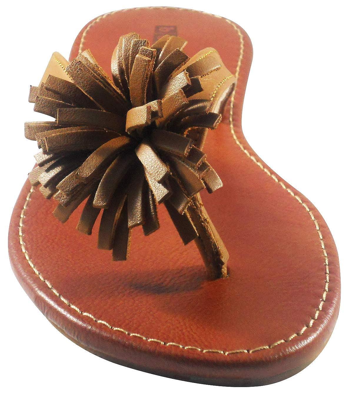 BOBBLEKIDS Pompi 13.5M Leather Shoes Little Girls Caramel Sandal