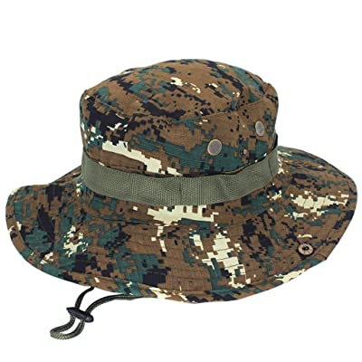 ESKNAS Mens Fishing Cap Sun Protection Camouflage Hunting Hiking Adjustable Cap Outdoor Sun Hat Mens Fishing Cap at Men's Clothing store