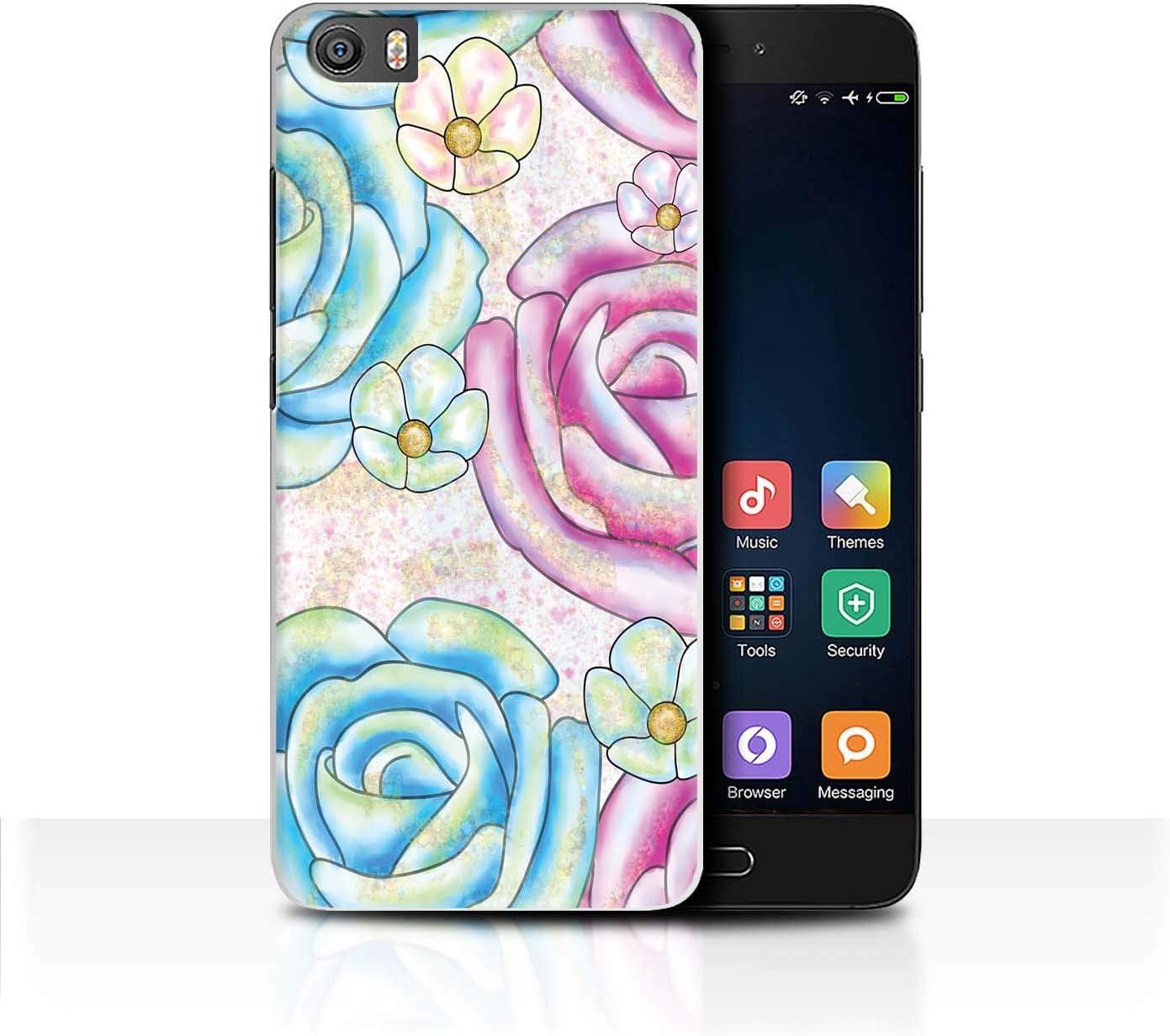 eSwish Carcasa/Funda Dura para el Xiaomi Mi5/Mi 5 / Serie: Fiesta Unicornio - Flores Rosas