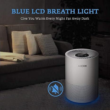 AICOK purificador de aire para el hogar fumadores y pelo de ...