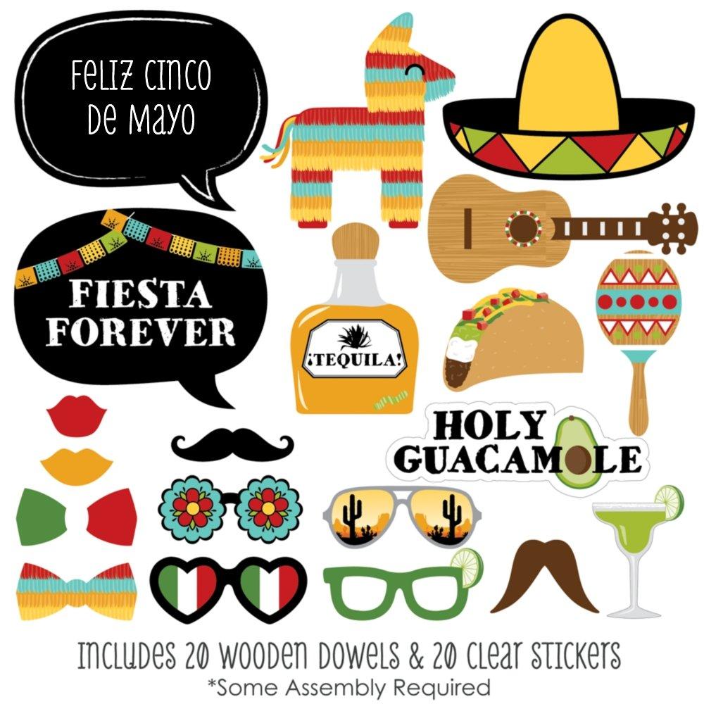 amazon com cinco de mayo mexican fiesta photo booth props kit