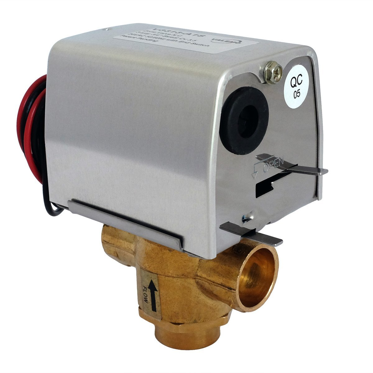 Valemo V3313-A1S Motorized Zone Valve, 3-way 3/4'', Sweat, 24 VAC with End Switch by Valemo Controls (Image #1)