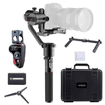 Moza Aircross 3 Axis estabilizador de mano cardán + inalámbrico controlador de pulgar OLED para cámaras