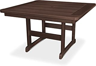 "product image for POLYWOOD PST48MA Park 48"" Square Table, Mahogany"