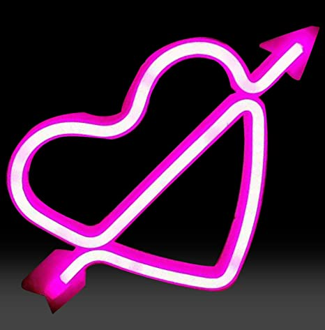 Pink cupid sign in