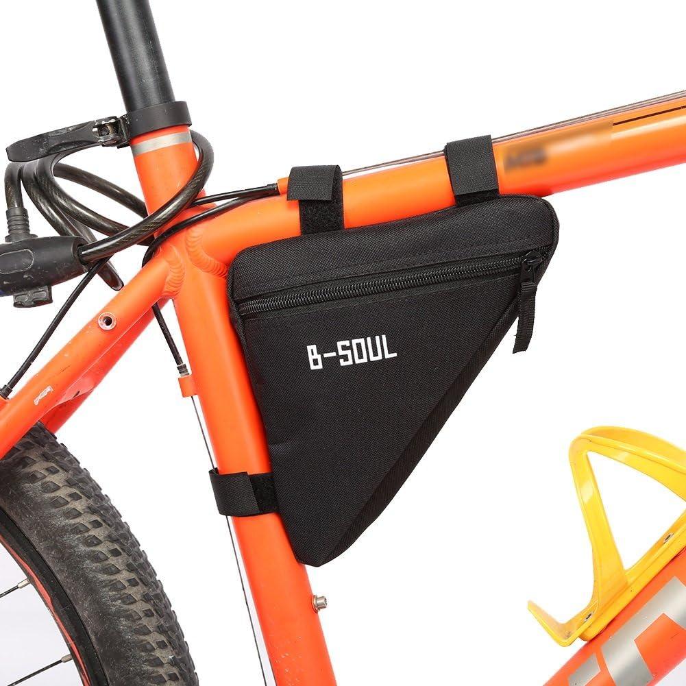 VORCOOL Bolsa Tri/ángulo para Bicicleta Impermeable para Ciclismo al Aire Libre Negro y Rojo
