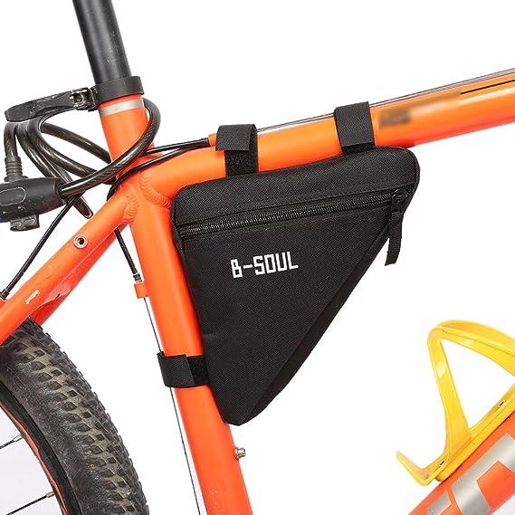 Bolsa de Sillín de Bicicleta Bolsa Triángulo de Alforja (Color ...