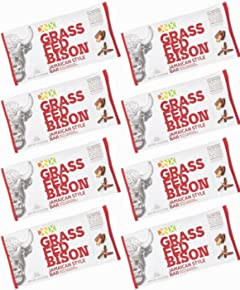 DNX Bar Grass Fed Bison Whole Food Protein Bar with Jamaican Spices, Organic Fruits and Veggies. Whole30 Approved Nutrition. Epic Taste. Buffalo Meat Bar. NO Preservatives (8 Bars)