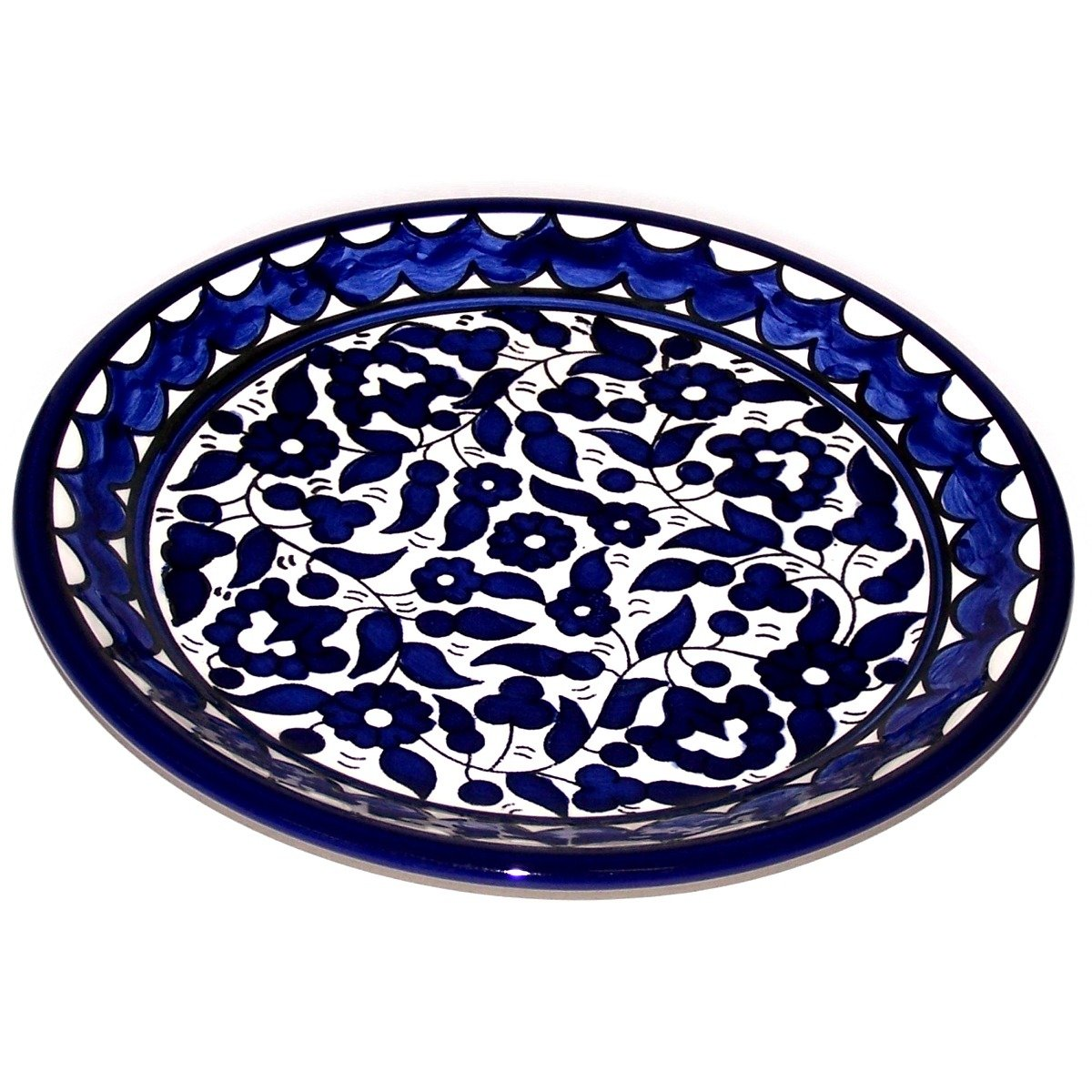 Asfour Outlet 9.5 Inches Armenian Ceramic Decorative Dinner or Display Plate